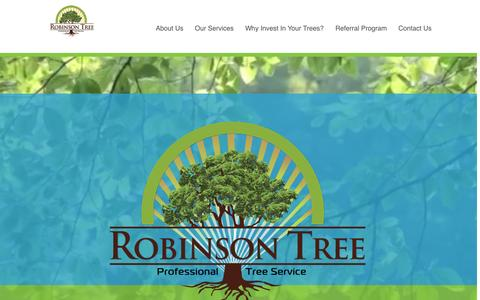 Screenshot of Home Page robinsontree.net - Welcome to Robinson Tree Service - captured Aug. 17, 2015