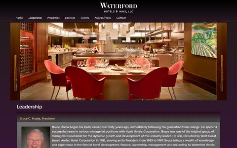 Screenshot of Team Page waterfordhi.com - Hotel Management Consultants | Waterford Hotels and Inns - captured Oct. 7, 2014