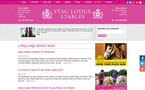 Screenshot of Press Page ridinginlondon.com - News Archives - Horse riding London & pony riding London with Stag Lodge Stables - captured Oct. 6, 2014