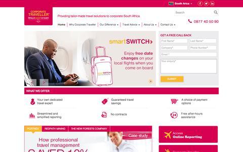 Screenshot of Home Page corporatetraveller.co.za - Leading Corporate Travel Agency   Corporate Traveller - captured Nov. 12, 2016