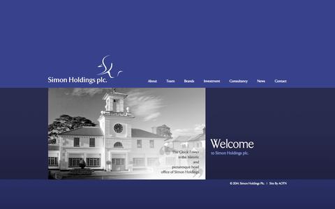 Screenshot of Home Page simonholdings.com - Simon Holdings plc - captured Oct. 6, 2014
