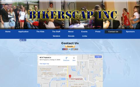 Screenshot of Contact Page bikerscap.org - BIKERSCAP Inc. - Contact Us - captured Oct. 10, 2017