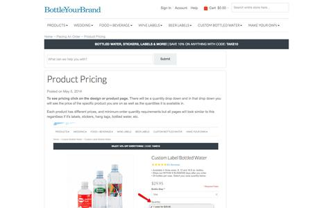 Screenshot of Pricing Page bottleyourbrand.com - Product Pricing - BottleYourBrand - captured June 2, 2017