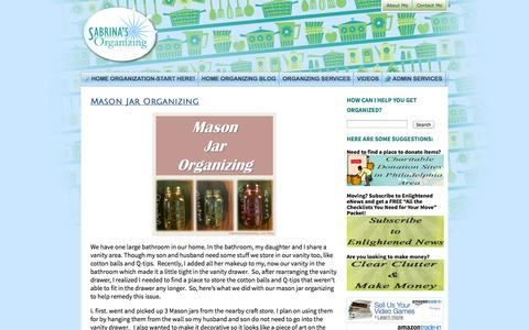 Screenshot of Blog sabrinasorganizing.com - Organizing BlogSabrina's Organizing | Working with Clients over 20 Years by Improving and Maintaining their Quality of Life! - captured Oct. 27, 2014