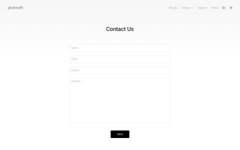 Screenshot of Contact Page jumsoft.com - Contact Us - Jumsoft - captured June 8, 2017