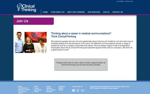 Screenshot of Signup Page clinicalthinking.com - ClinicalThinking - Science is our passion - captured July 19, 2018