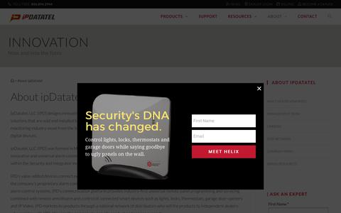 Screenshot of About Page ipdatatel.com - About ipDatatel - ipDatatel - captured Oct. 8, 2017