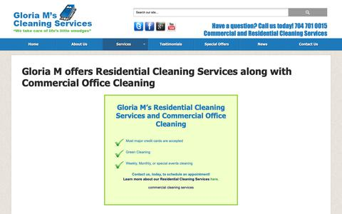 Screenshot of Services Page gloriamscleaning.com - House Cleaning Services - captured Nov. 5, 2018