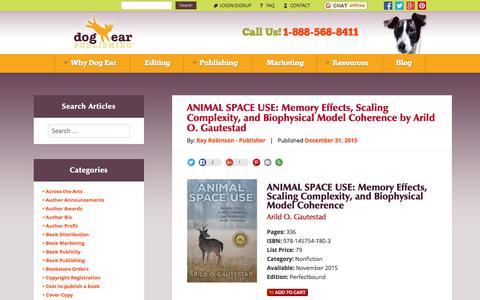 Screenshot of Blog dogearpublishing.net - Dog Ear Publishing - Dog Ear Publishing - captured Jan. 7, 2016