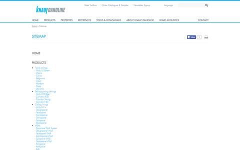 Screenshot of Site Map Page knaufdanoline.com - Sitemap | Knauf Danoline A/S - captured Sept. 30, 2014