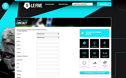 Screenshot of Contact Page lefive.fr - Contact - captured Nov. 10, 2016