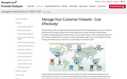 Firewall Analyzer for Managed Security Service Provider (MSSP) :: Firewall Analyzer