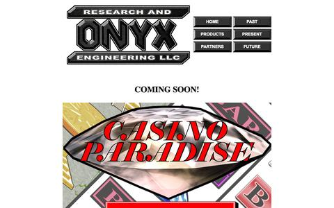 Screenshot of Home Page onyxgaming.com - Welcome - captured Sept. 30, 2014
