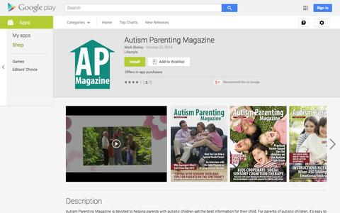 Screenshot of Android App Page google.com - Autism Parenting Magazine - Android Apps on Google Play - captured Oct. 30, 2014