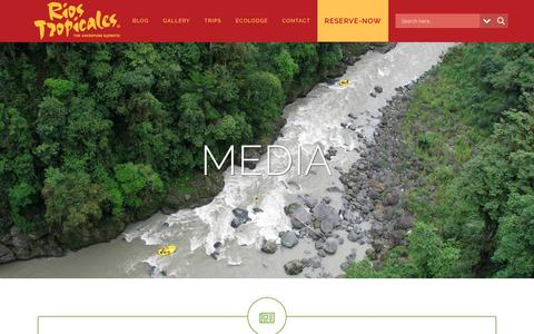 Screenshot of Press Page riostropicales.com - Media | Rios Tropicales-The Adventure Experts - captured Nov. 19, 2018