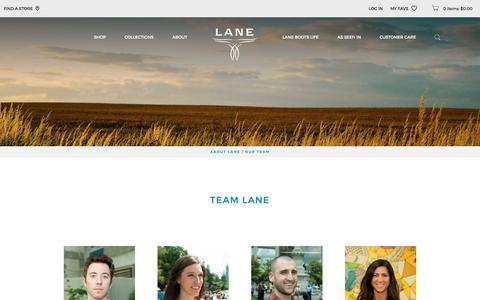 Screenshot of Team Page laneboots.com - Our Team | Lane Boots - captured July 11, 2016