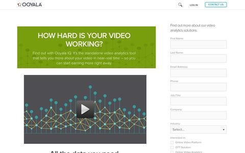 Screenshot of Landing Page ooyala.com - Optimize Your Ad Revenue - captured April 17, 2016