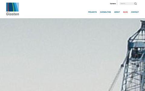 Screenshot of Blog glosten.com - Blog - Glosten Associates - captured Jan. 29, 2016