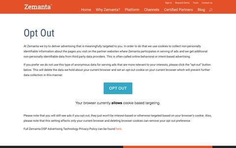 Opt-Out - Zemanta