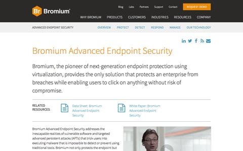Screenshot of Products Page bromium.com - Bromium Advanced Endpoint Security   Bromium - captured July 3, 2016