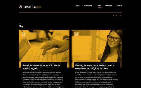 Screenshot of Blog avante.cc - Blog - Avante - captured Oct. 4, 2014