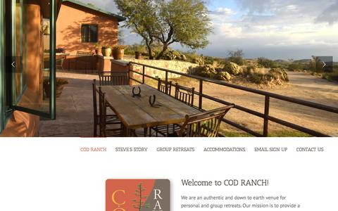 Screenshot of Home Page codranch.com - COD RANCH - captured Jan. 30, 2016