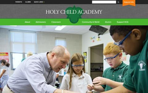 Screenshot of Home Page holychildacademy.com - Holy Child Academy (PA) - captured Dec. 12, 2015
