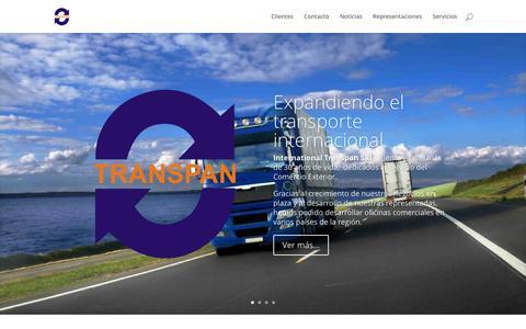 Screenshot of Home Page transpan.com.uy - Transpan | Transporte Internacional - captured Oct. 19, 2015