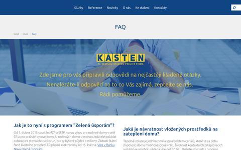 Screenshot of FAQ Page kasten.cz - FAQ    KASTEN spol. s r. o. - captured Oct. 16, 2017