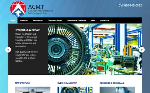 Screenshot of Home Page acmt.aero - ACMT — - captured Oct. 1, 2014