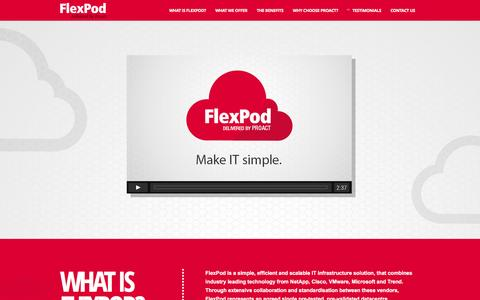 Screenshot of Home Page flexpod.co.uk - Flexpod Solutions - NetApp, Cisco, VMware Enterprise Storage Solution - Flexpod - captured Jan. 8, 2016