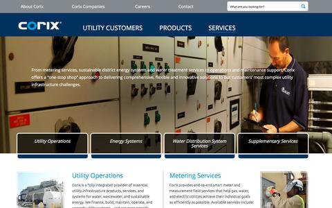 Screenshot of Services Page corix.com - Overview - captured Sept. 25, 2018
