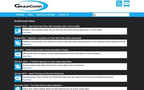 Screenshot of Press Page gradconn.com - News | GradConn - captured Oct. 28, 2014