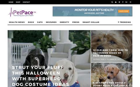 Screenshot of Blog petpace.com - PetPace's Blog! – PetPace's Blog! - captured Nov. 1, 2017