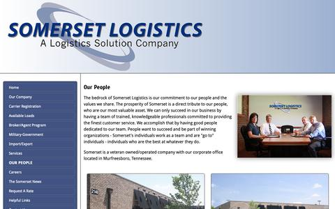 Screenshot of Team Page somersetlogistics.com - Our People - Somerset Logistics - captured Nov. 18, 2018