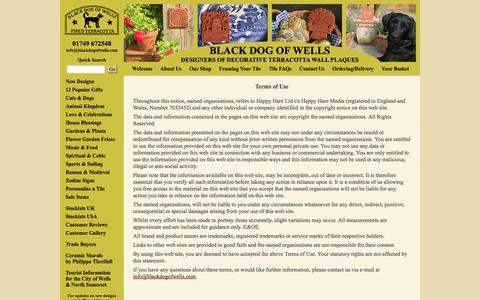 Screenshot of Terms Page blackdogofwells.com - Terms of Use - Black Dog of Wells - captured Sept. 30, 2014