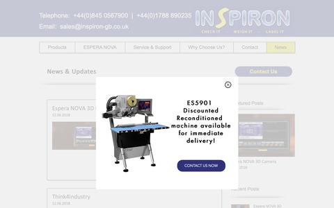 Screenshot of Press Page inspiron-gb.co.uk - Weighing Systems | UK | Inspiron Labelling Solutions Ltd | News - captured Oct. 12, 2018
