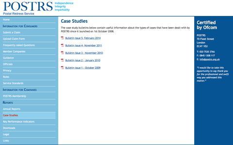 Screenshot of Case Studies Page cedr.com - POSTRS: Case Studies - captured Dec. 14, 2017