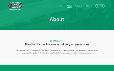 Screenshot of About Page u17ccctrust.org - About - Charitable Trust - captured Oct. 29, 2018