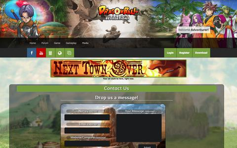 Screenshot of Support Page dborevelations.com - DBORevelations   Support   Dragon Ball Online Revelations - captured Oct. 30, 2017