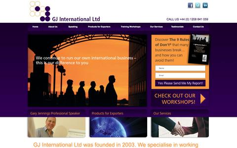 Screenshot of About Page gj-intl.com - GJ International Ltd - captured Oct. 1, 2014