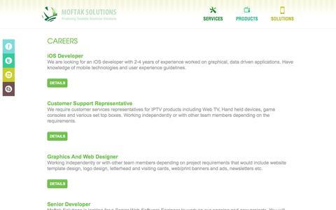 Screenshot of Jobs Page moftak.com - Careers - captured Jan. 22, 2016