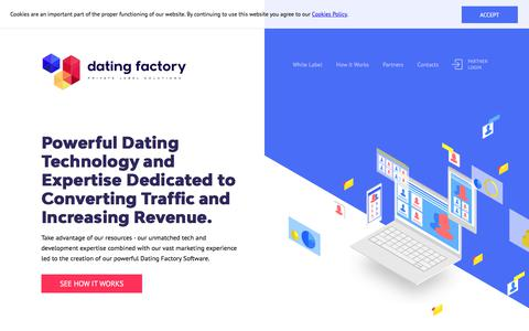 Screenshot of Home Page datingfactory.com - Dating Factory - captured July 17, 2018