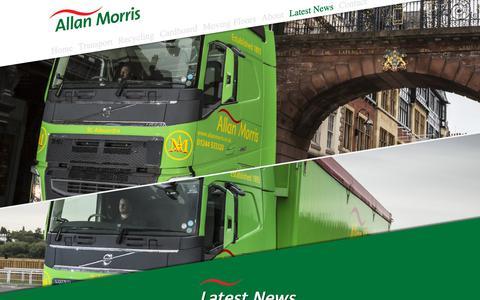 Screenshot of Press Page allanmorris.co.uk - Bulk Haulage Walking Floor Transport Warehousing Paper Recycling - Allan Morris - captured Oct. 2, 2018