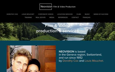Screenshot of Home Page neovisionprod.com - NEOVISION Film & Video Production - Video production agency - captured Oct. 18, 2018