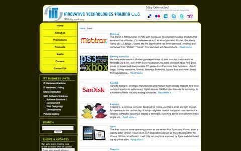 Screenshot of Products Page ittdubai.com - Brand | Innovative Technologies Trading L.L.C - captured Oct. 6, 2014