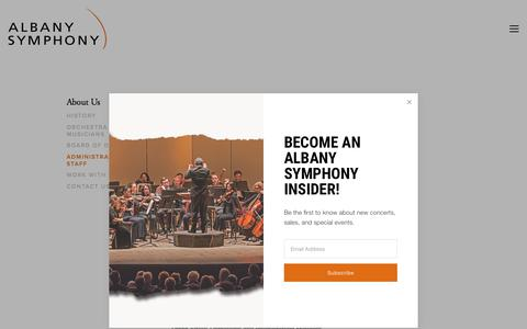 Screenshot of Team Page albanysymphony.com - Administrative Staff — Albany Symphony - captured June 9, 2018