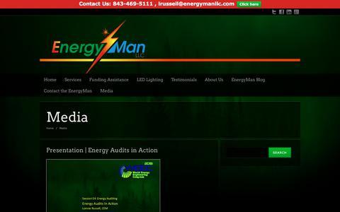 Screenshot of Press Page energymanllc.com - Media - EnergyMan LLC - captured July 19, 2018