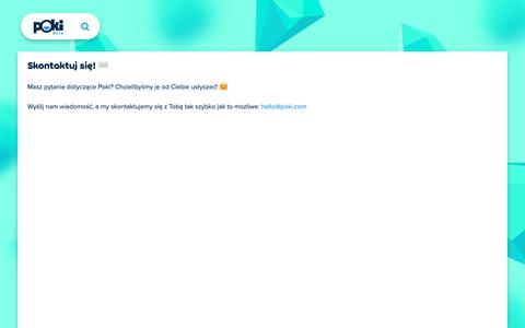 Screenshot of Contact Page poki.pl - Kontakt - captured Dec. 12, 2018