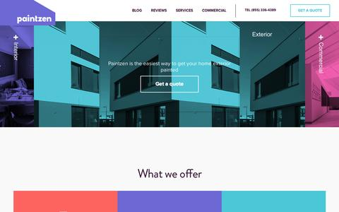 Screenshot of Services Page paintzen.com - Services | Paintzen - captured Nov. 18, 2015